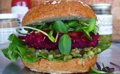 Red Onion and Beet Burger [Vegan] | One Green Planet