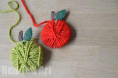Yarn Apple Craft & Garland