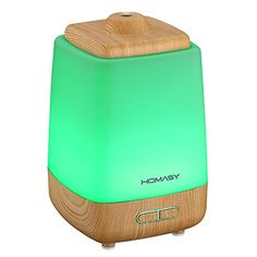Homasy Aroma Essential Oil Diffuser Wood Grain Night Light with 7 Color LED Changing for Yoga Spa Home Office Room >>> Check this awesome product by going to the link at the image. Room Humidifier, Cool Mist Humidifier, Aroma Essential Oil, Essential Oil Diffuser, Best Aromatherapy Oils, Healing Oils, Lead Change, Thing 1, Aroma Diffuser