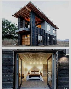 beautiful Shiping Container Cabin. A exquisite to store your Car. #containerhome #shippingcontainer #shippingcontainerhome #architecture #design #ideas #diy #modular #modern #affordable #cheap #studio #shed #barn #storage #garage #work #business #marketing #office Source: