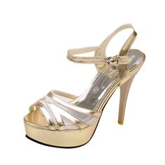 Latasa Womens Sexy Elegant Peep-toe Platform Stiletto High Heel Ankle-Strap Dress Wedding Party Sandals * Check out the image by visiting the link.
