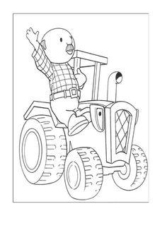 Byggmester Bob Fargelegging for barn. Tegninger for utskrift og fargelegging nº 16