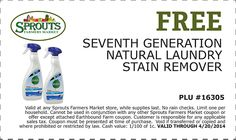 Free Seventh Generation Natural Laundry Stain Remover at Sprouts