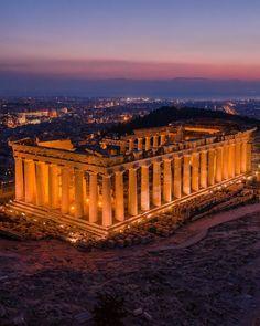 """2,202 """"Μου αρέσει!"""", 99 σχόλια - #Drone 💢 #Landscape 〽️ #Travel (@pallisd) στο Instagram: """"Tag a person you would like to be there with! • Parthenon @ the Acropolis of Athens 🏛 • • • • • • •…"""""""