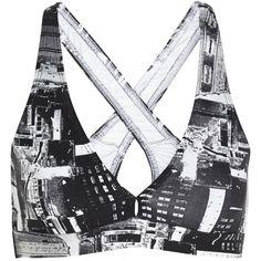 Lily printed stretch sports bra