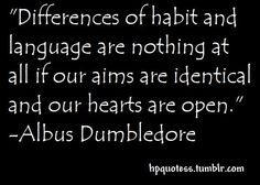 Differences of habit...