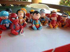 Heróis baby para lembrancinhas, mesa de guloseimas e topos de bolo. Pode ser colocado em caixinhas, potinhos etc. R$ 8,00