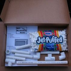 Homemade Marshmallow Shooter Kit - The comments on the blog crack me up. Some should be taken seriously though. Might be a choking hazard for the little ones...just like anything SUPERVISE your kids! Supervise and have fun with them!! =) http://www.giftideascorner.com/christmas-gag-gifts