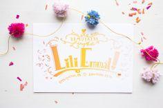 Letterpress Baby Announcement