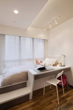 living 46 Awesome Small Bedroom Design Ideas To Get Comfortable Sleep Romantic Bedroom Decor, Modern Bedroom Decor, Scandinavian Bedroom, Bedroom Furniture Design, Contemporary Bedroom, Apartment Furniture, Design Bedroom, Pallet Furniture, Modern Decor