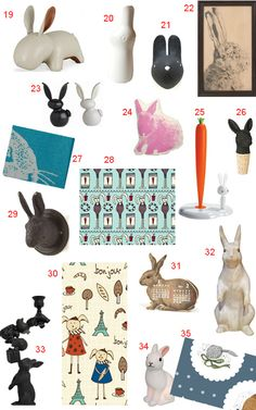44 Bunny Rabbit Accessories and Decor