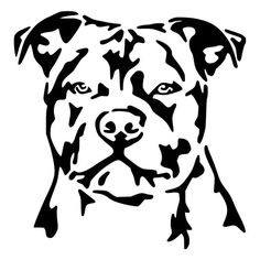 For your consideration is a die-cut vinyl Staffordshire Bull Terrier decal available in multiple sizes and colors. Vinyl decals will stick to