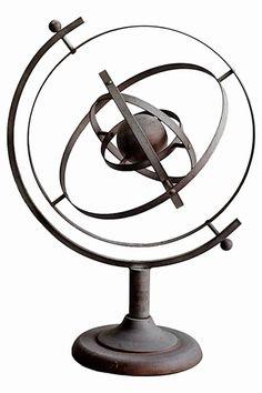 Aluminum Eliptical Globe - $245.