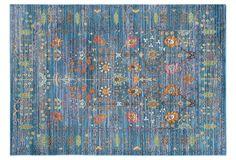Pello Rug, Blue/Multi | Tried & True | One Kings Lane