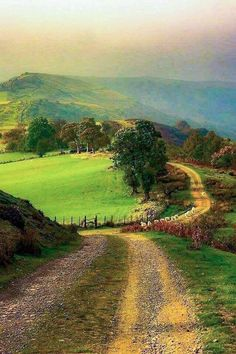Wales. Lovely! ~ This reminds me of the road going to Grandmother Eva's house. ♥