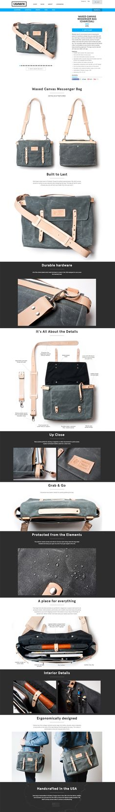 Waxed Canvas Messenger Bags by Jeff Sheldon