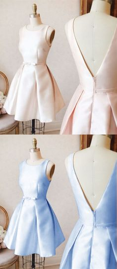 UHC0104, pink homecoming dresses,light blue homecoming dresses,simple homecoming dress, short prom dresses