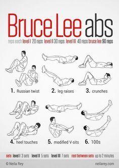 Acá tienes una muestra de como realizar los #abdominales de #BruceLee y luce como realmente desea! #Gym #Hombre