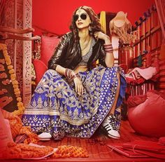 The first look of Dolly ki Doli sees Sonam Kapoor in a lehenga by Anita Dongre.