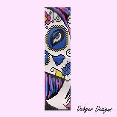loom beading patterns and designs | Calavere 2- Loom Bracelet Cuff by Debger Designs