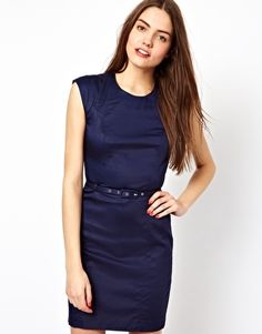 Image 1 ofFrench Connection Belted Shift Dress