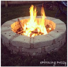 Simple Fire Pit Tutorial... Actually like this idea for the pattern for retaining wall. http://amzn.to/2qWZ2qa