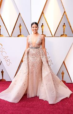 Gina Rodriguez in Zuhair Murad Couture   Beautiful!   Oscars 2018: Fashion—Live From the Red Carpet