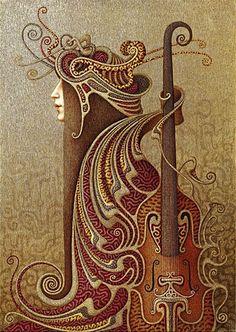 violin by boris indrikov - detail