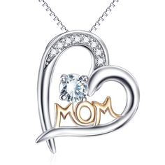 2 - Lovely Mom - 925 Sterling Silver Necklace