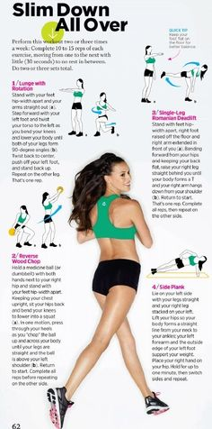 slim down all over + leaner legs, tighter butt - Click image to find more hot Pinterest pins