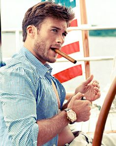 "Scott Eastwood, Clint Eastwood's Hunky Son, Wants ""To Be a Man's Man,"" Models in Town & Country"
