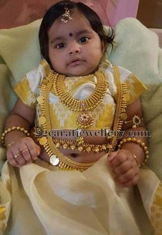 Latest Collection of best Indian Jewellery Designs. Indian Girl Names, Indian Baby Girl, Indian Girls, Indian Jewellery Design, Jewellery Designs, Indian Jewelry, Baby Girl Fashion, Kids Fashion, Lehanga For Kids