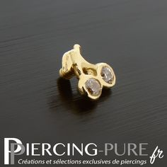 Microdermal Or cerise et Cristaux clos - Piercing-Pure Labret, Jewelry Ideas, The Selection, Piercings, Stud Earrings, Pure Products, Tattoos, Nose Earrings, Luxury Jewelry
