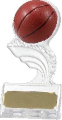 Basketball Acrylic Stand 140mm Basketball Trophies, Basketball Awards, Clear Acrylic