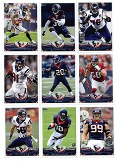Houston Texans 2013 Topps NFL Football Complete Mint 14 Card Team Set Including Deandre Hopkins Rookie Card JJ Watt POY and Regular Card…