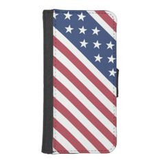 Stars and Stripes Design Phone Wallet