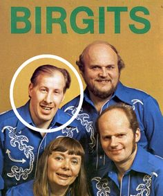 Swedish dance band, Birgits. Guy on the left obviously is something special. Can't imagine what.