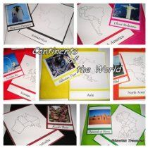 World Continents Cd - Social Studies Culture Geography Box Montessori Materials Teaching Resources Curriculum