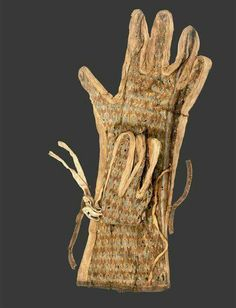 Gloves found in the Tomb of  Tutankhamun.