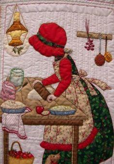 My Sunbonnet girls. Quilt Block Patterns, Applique Patterns, Applique Quilts, Applique Designs, Quilt Blocks, Mini Quilts, Baby Quilts, Quilting Projects, Quilting Designs