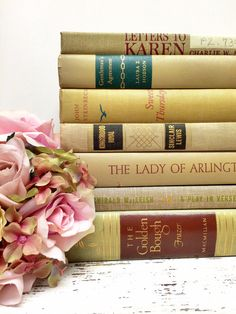 Decorative Books,Hemlock and Sand,Table Setting,Spring Wedding by beachbabyblues, $62.00