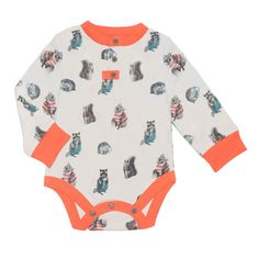 Finn and Emma Long Sleeve Woodland Print Bodysuit - Unisex made from GOTS certified Organic Cotton Organic Baby Toys, Organic Baby Clothes, Baby Shower Gifts For Boys, Baby Boy Or Girl, Woodland Baby, Woodland Nursery, One Year Old, Natural Baby, Unisex Baby