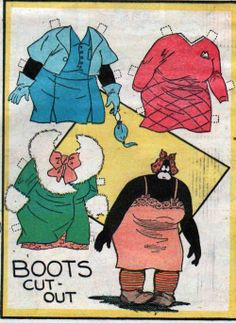 10-15-39 Boots paper doll of Boots maid / eBay