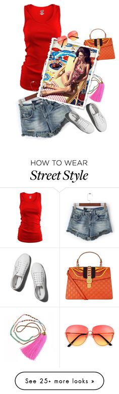 """street style"" by janemichaud-ipod on Polyvore featuring Soffe, Gucci and Abercrombie & Fitch"