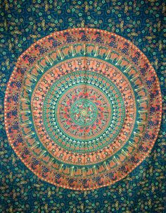 Elephant Mandala Tapestry Hippie Indian Tapestry by JaipurHandloom