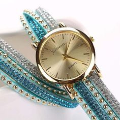 Braided Winding Wrap Wrist Watch