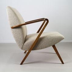 Beautiful organic Dutch design easy chair by AA Patijn