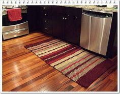 crochet kitchen rug