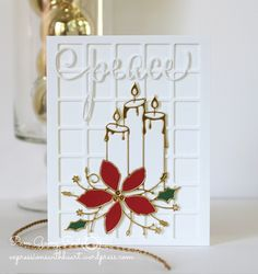 Pam Sparks Poinsettia Candles