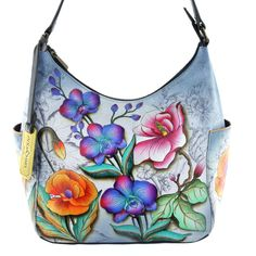 Beautiful Spring 2015 Floral Handbags from Anuschka Classic  - Floral Fantasy  SilverFever has the lowest prices online for Anuschka Handbags - http://silverfever.com/anuschka-handbags-en/anuschka-large-smart-phone-case-and-wallet-bag-genuine-handpainted-leather-rosy-reverie.html
